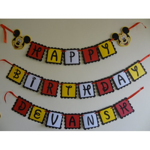 Mickey theme- Personalised Banner