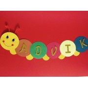 Personalised Caterpillar Banner