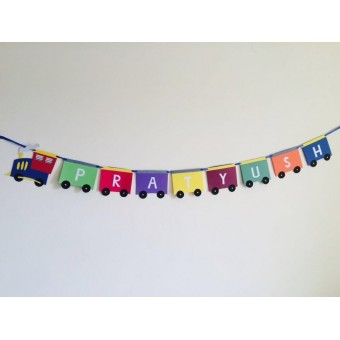 Train Banner Personalized